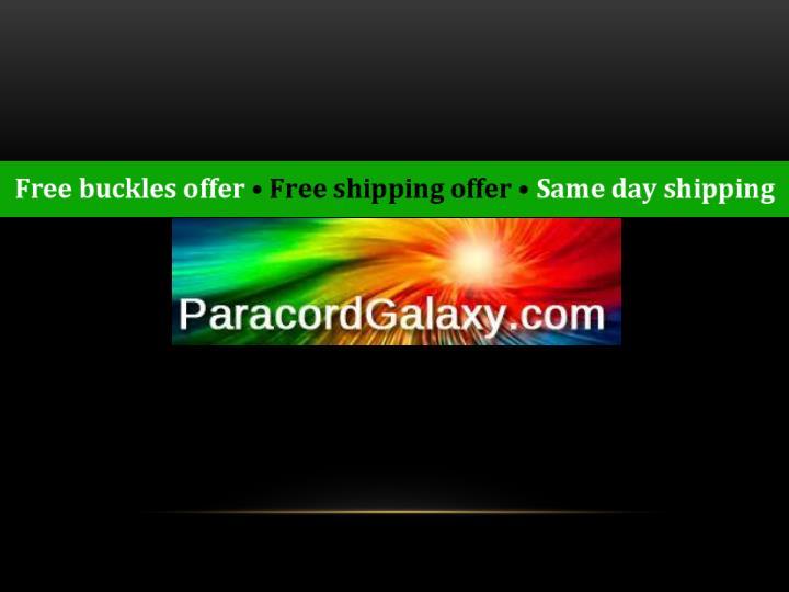 Metal buckles paracord galaxy
