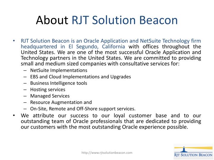 About rjt solution beacon 1