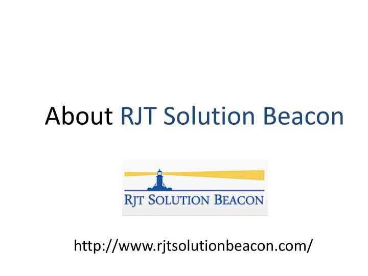 About rjt solution beacon