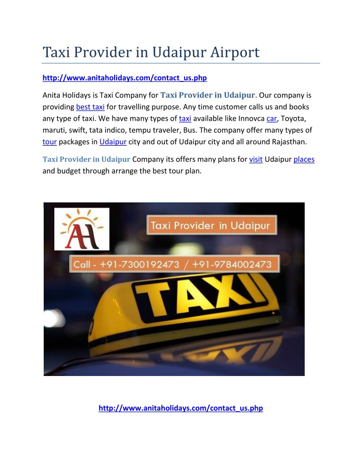 taxi provider in udaipur airport n.