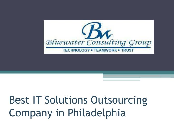 best it solutions outsourcing company in philadelphia n.