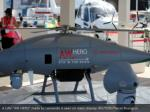 a uav aw hero made by leonardo is seen on static