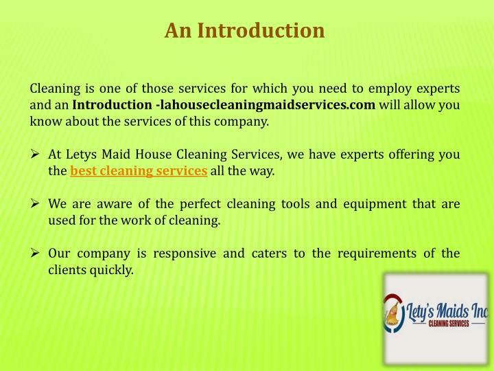 PPT Most Reputed Company For In House Cleaning Services PowerPoint