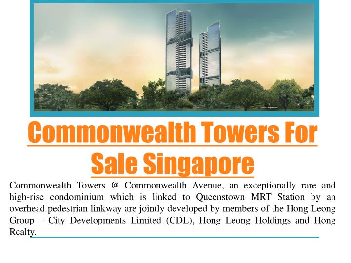 commonwealth towers for sale singapore n.
