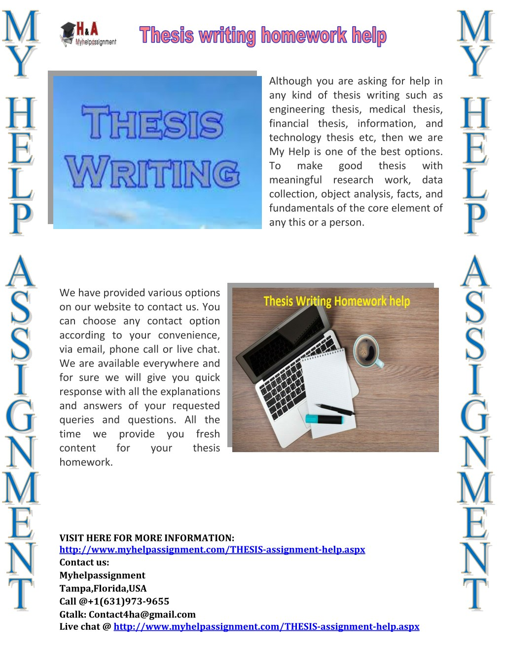 Delimitations of a thesis