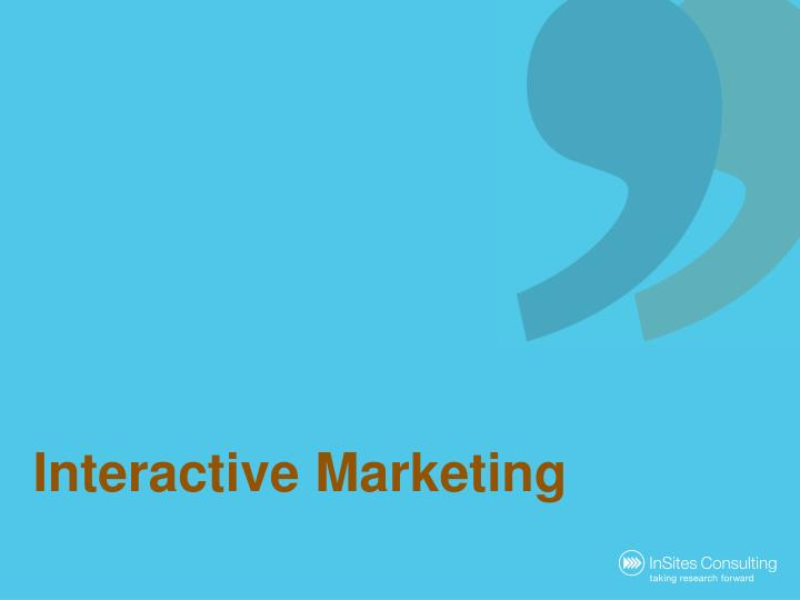 interactive marketing n.