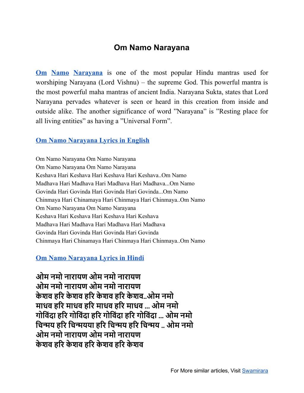 Powerpoint Ppt Presentat Om Namo Narayana – Meta Morphoz
