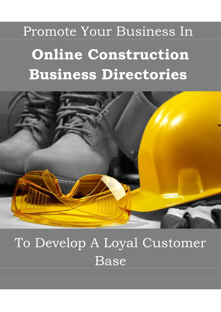 promote your business in online construction n.