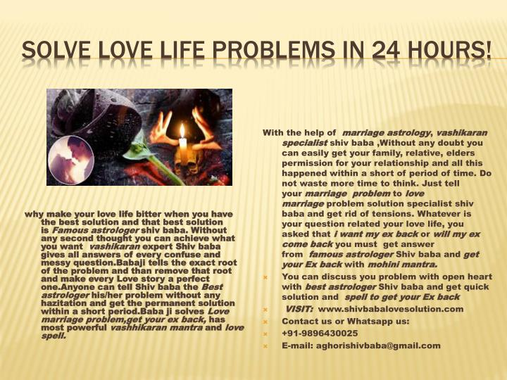 solve love life problems in 24 hours n.