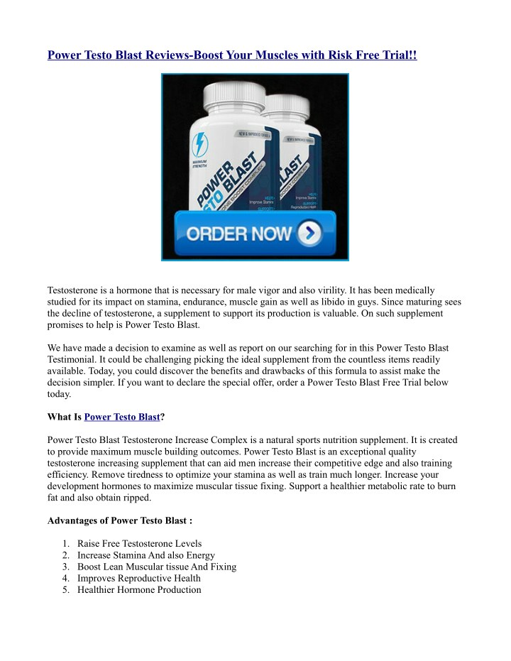 power testo blast reviews boost your muscles with n.