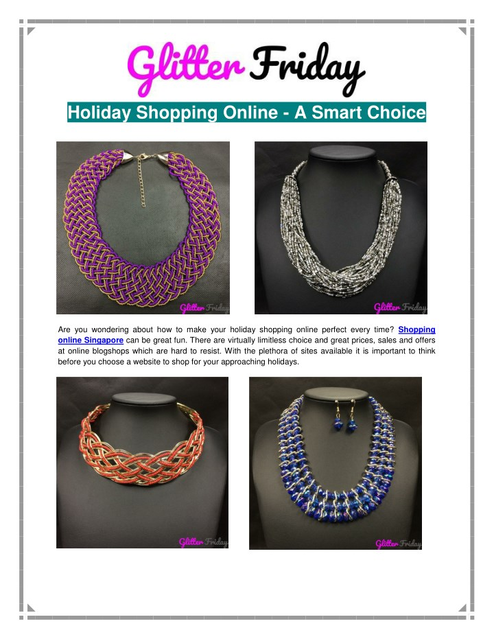 holiday shopping online a smart choice n.