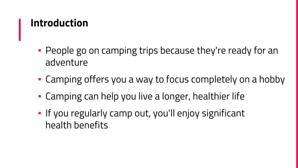 PPT - 6 Health Benefits of Camping PowerPoint Presentation