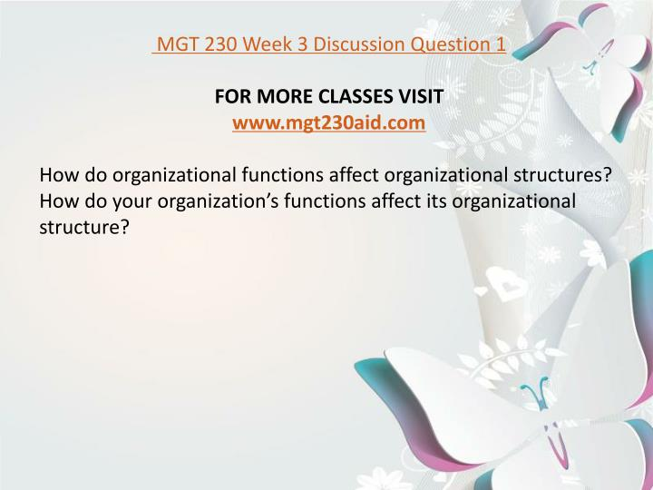 mgt 230 week 4 organizational structure paper