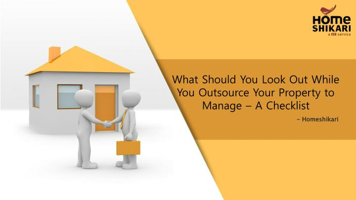 what should you look out while you outsource your n.