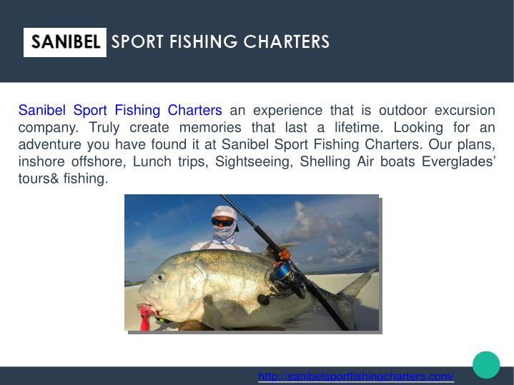 Sanibel sport fishing charters an experience that