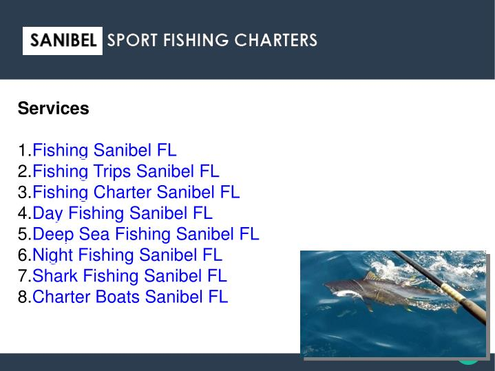 Services 1 fishing sanibel fl 2 fishing trips