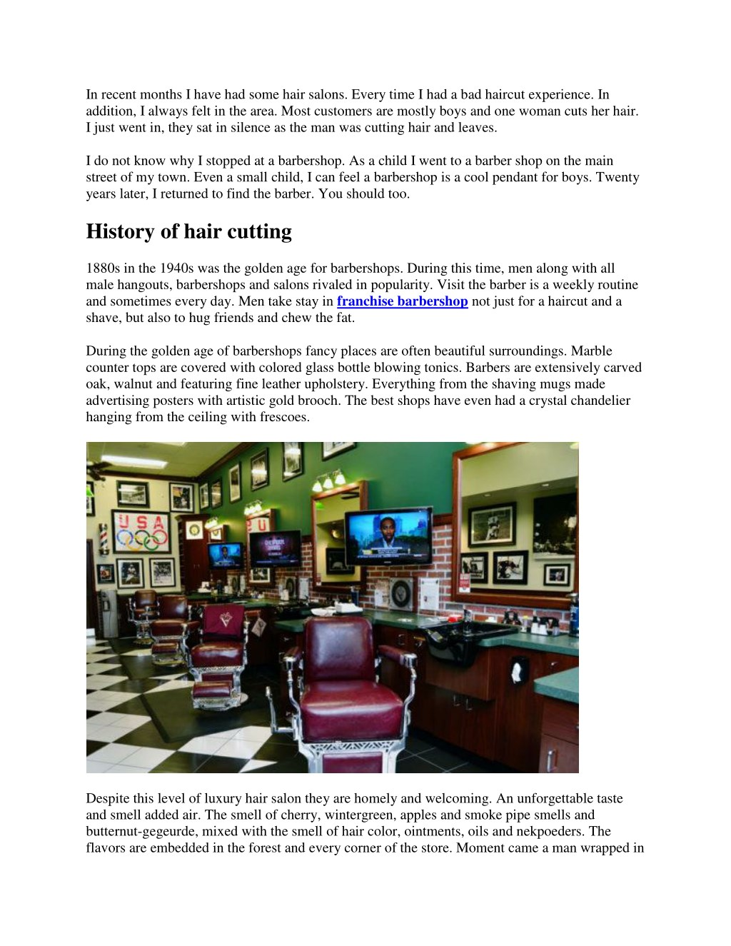 PPT - Franchise barbershop and salon combination PowerPoint