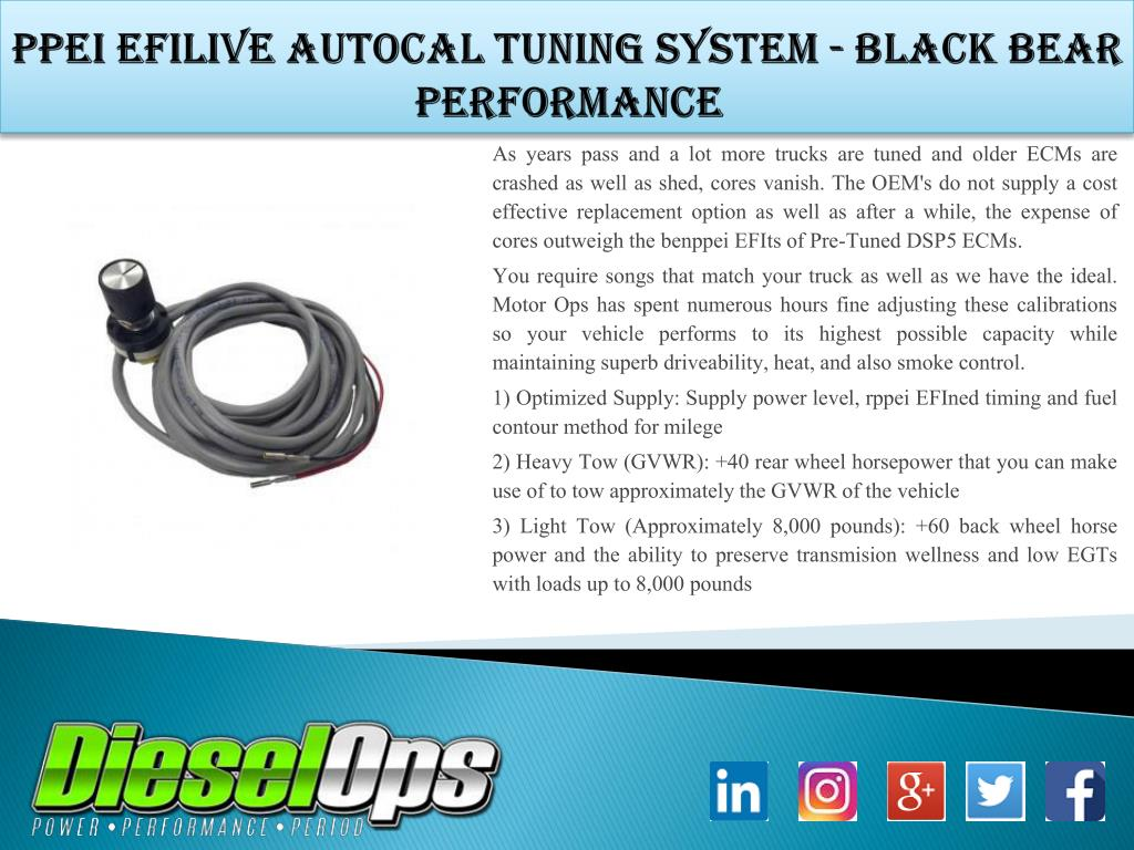 PPT - PPEI EFILive AutoCal Tuning System - Black Bear Performance