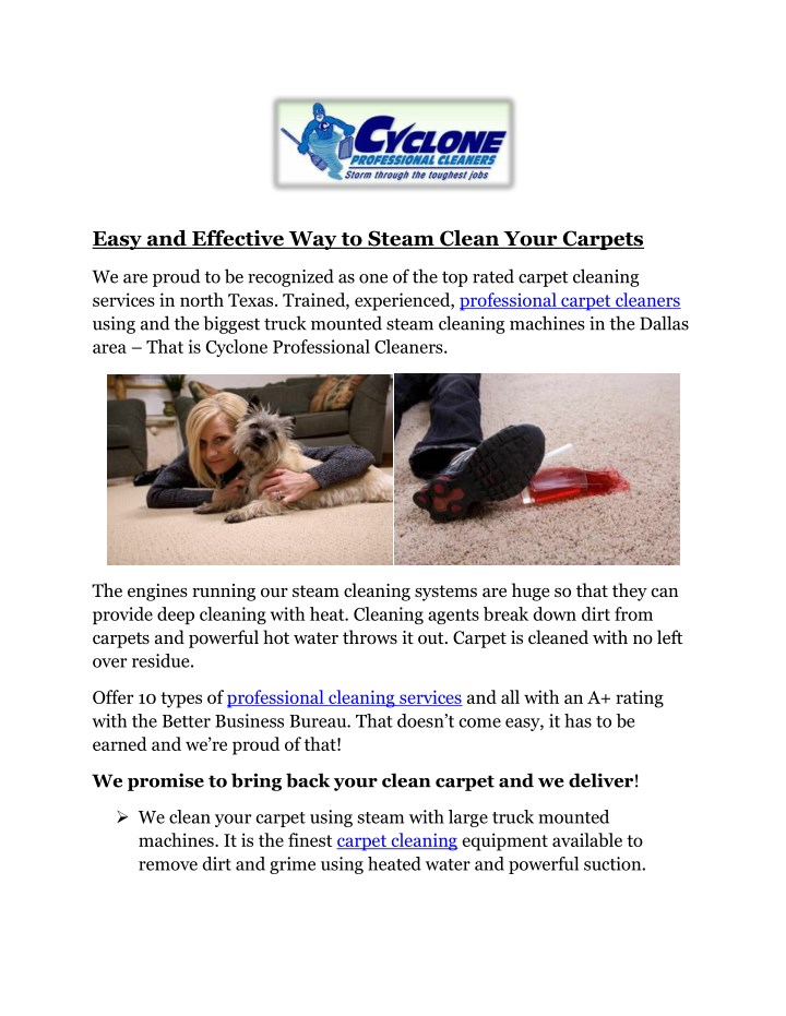 easy and effective way to steam clean your carpets n.