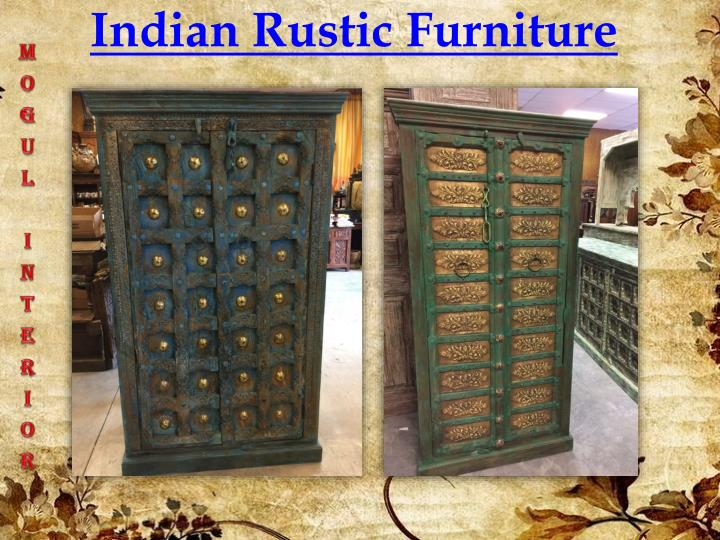 indian rustic furniture n.