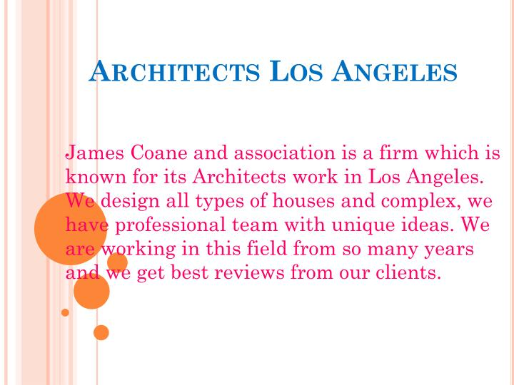 architects los angeles n.