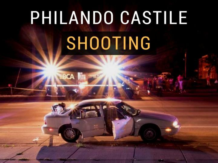 the scene of the philando castile shooting n.