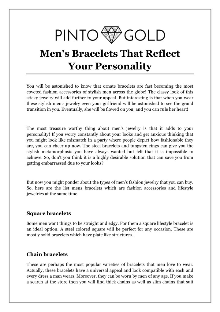 men s bracelets that reflect your personality n.