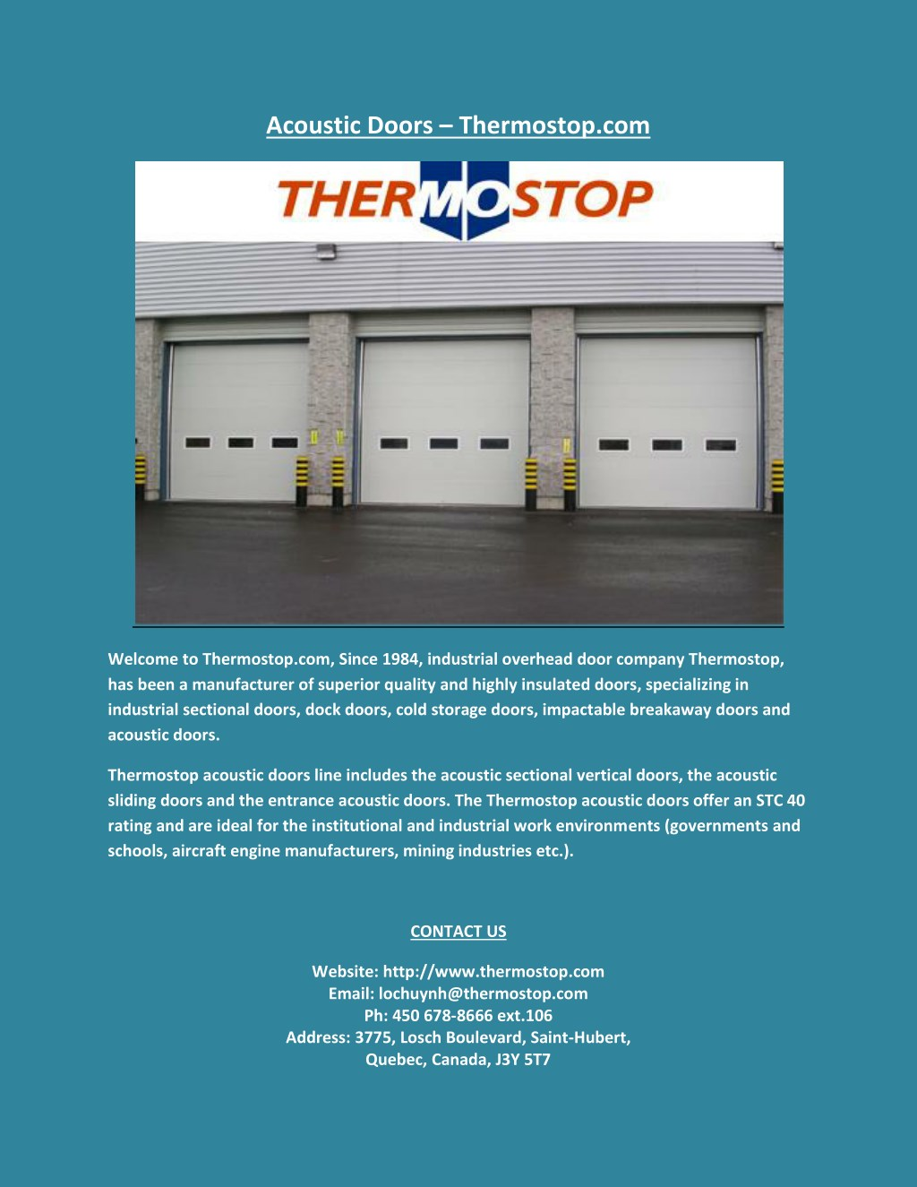 Ppt Acoustic Doors Powerpoint Presentation Free Download Id 7615737