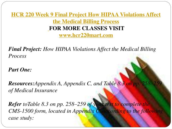 hcr 220 week 9 Study flashcards on hcr 220 checkpoint_ determining diagnosis code categories at cramcom quickly memorize the terms  hcr 220 week 1-9 includes all dqs, ch.