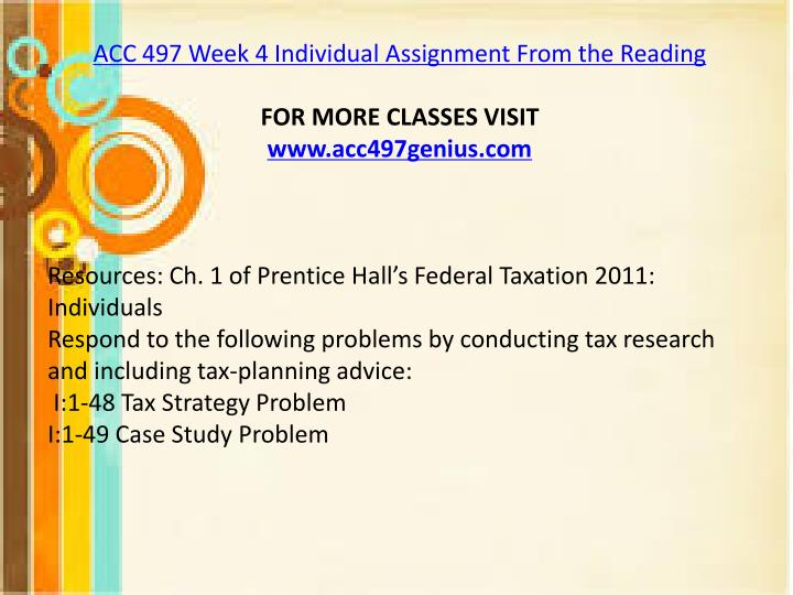 i 1 48 tax strategy problem i 1 49 case study problem
