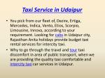 taxi service in udaipur 2