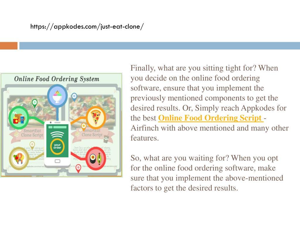 PPT - Online Food Ordering Websites PowerPoint Presentation - ID:7617494
