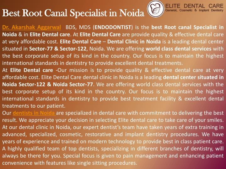 best root canal specialist in noida n.