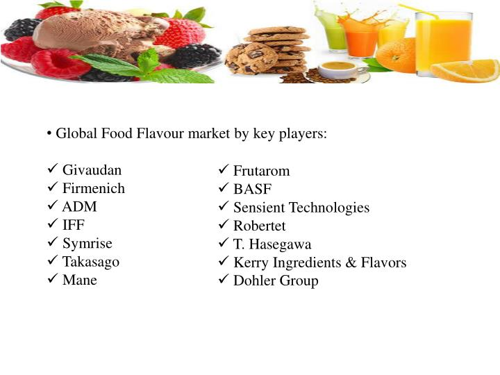 food flavors market trends forecast Report highlights: the report provides deep insights on demand forecasts, market trends and micro and macro indicators in addition, this report provides insights on the factors that are driving and restraining the demand of food flavors market.