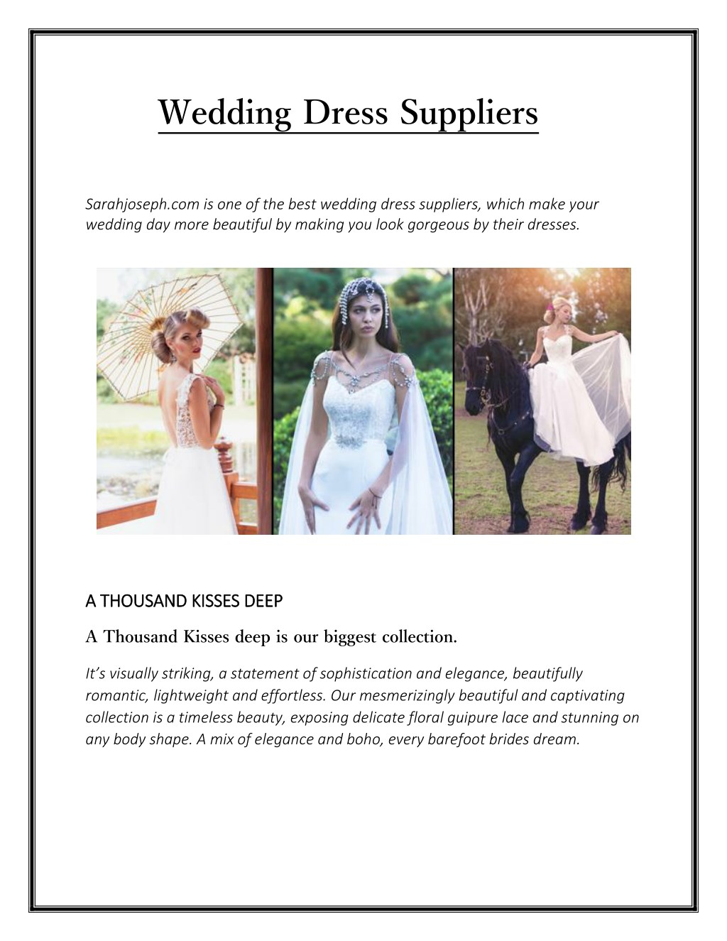 Ppt Wedding Dress Suppliers Sarahjoseph Powerpoint Presentation Free Download Id 7617983,Casual Fall Dresses To Wear To A Wedding