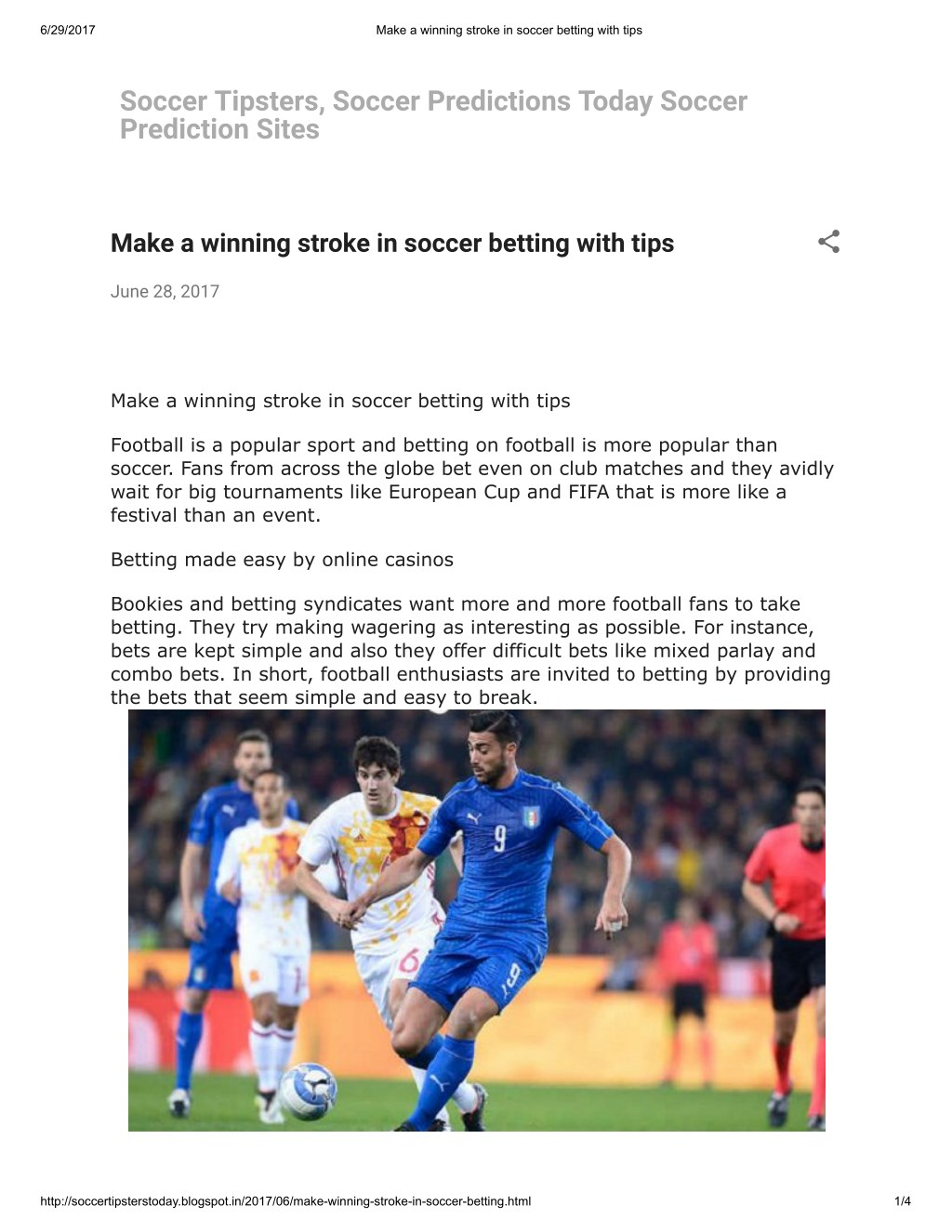 PPT - Make a winning stroke in soccer betting with tips