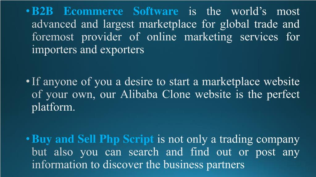 PPT - Buy and Sell Php Script | B2b Ecommerce Software