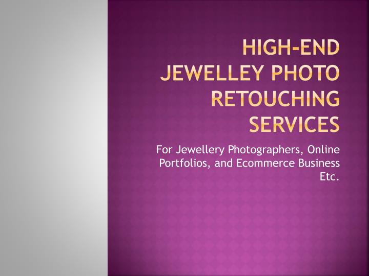 high end jewelley photo retouching services n.