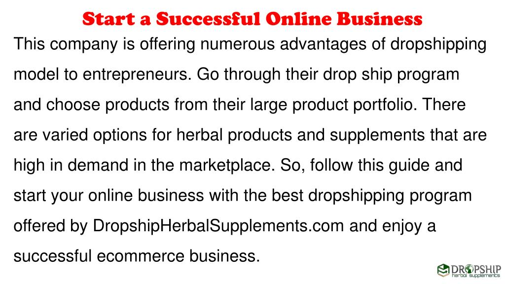 PPT - How to Start a Successful Online Business with Dropshipping