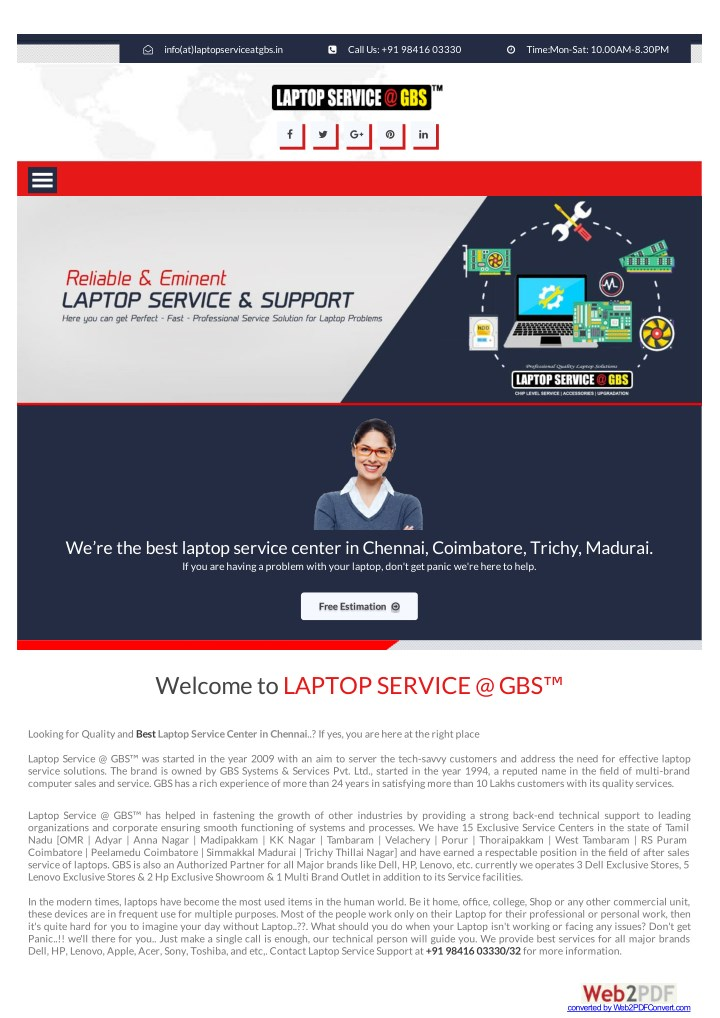 info at laptopserviceatgbs in n.