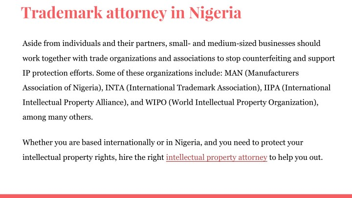 intellectual property in nigeria The development of intellectual property in nigeria has a checkered history and a large section of the population do not know what intellectual property rights are or what they entail.
