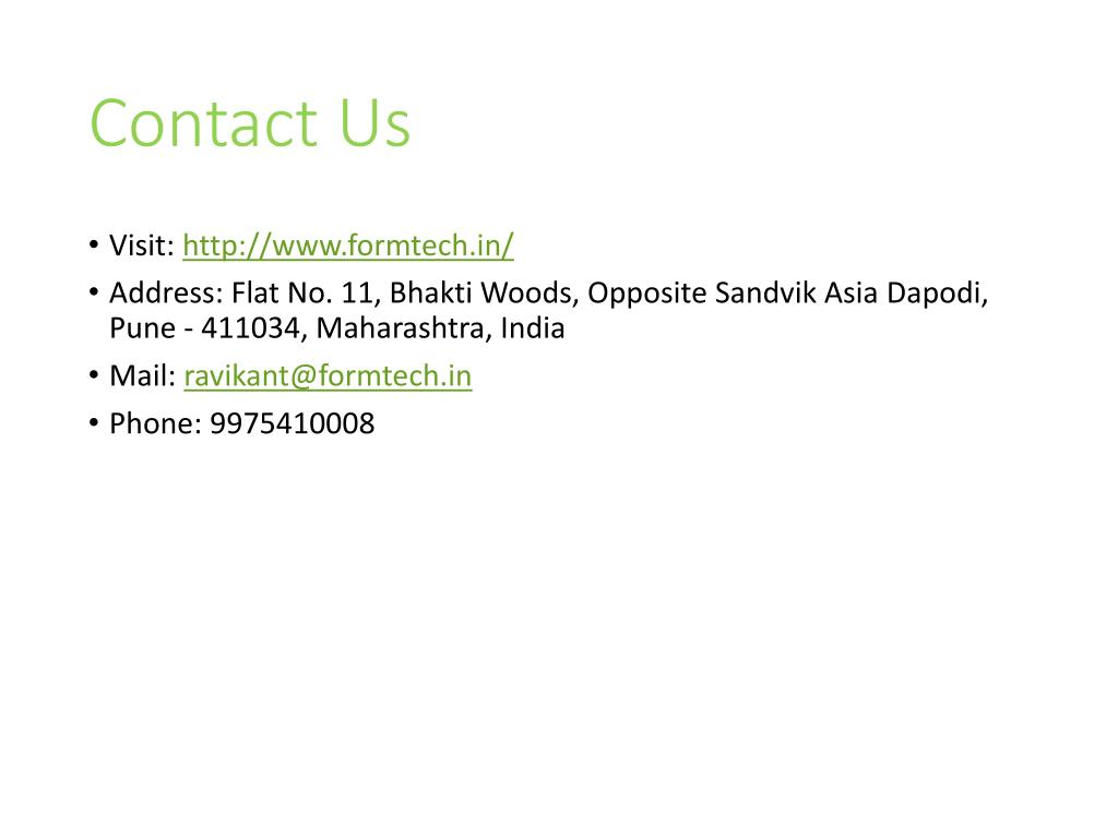 PPT - Formtech Engineers is Trusted Manufacturer of