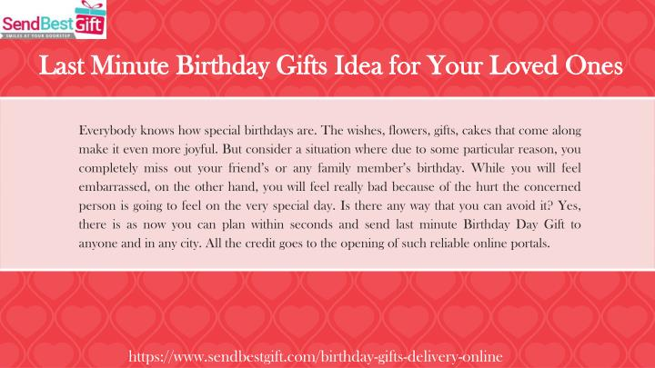 Last Minute Birthday Gifts Idea For Your Loved Ones