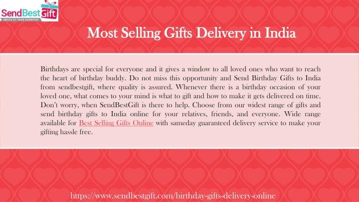 Most Selling Gifts Delivery In India