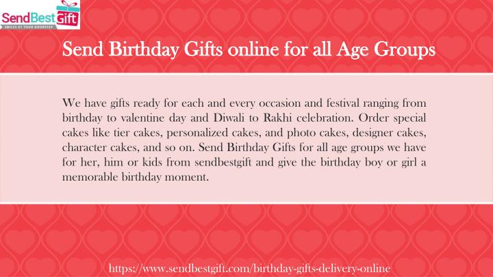 Send Birthday Gifts Online For All Age Groups