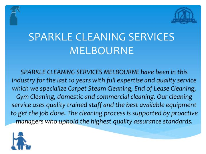 sparkle cleaning services melbourne n.