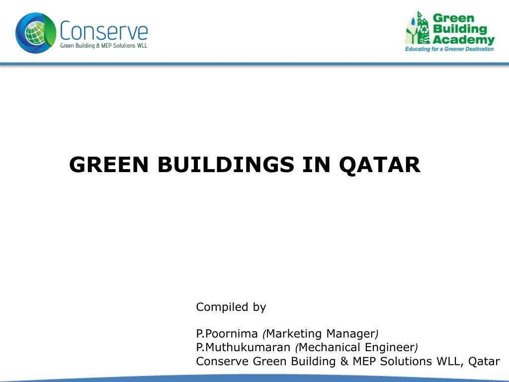 Ppt Best Leed Certification In Qatar Powerpoint Presentation Id