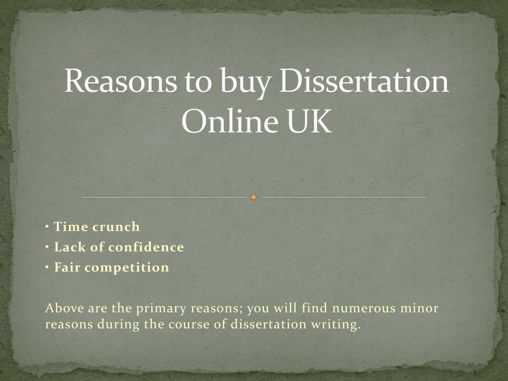 Buy a dissertation online download