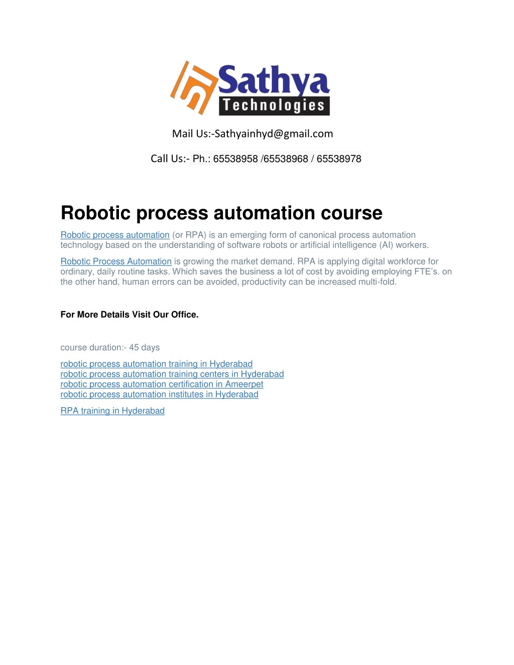 Ppt Robotic Process Automation Rpa Best Software Training