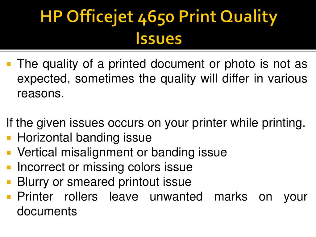 PPT - How To Troubleshooting HP Officejet 4650 Print Quality